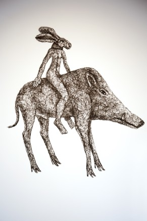 Ladyhare on a Boar