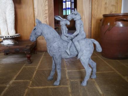 Sophie Ryder, Lovers on Horseback (Maquette), 2012