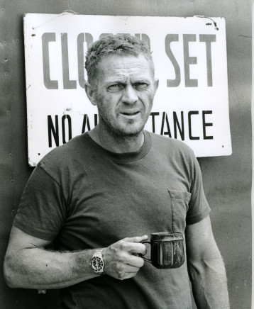 Ron Galella, Steve McQueen taking a break during the shooting of