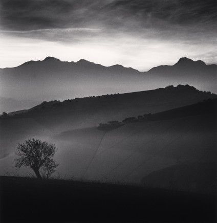 Michael Kenna, Tree and Gran Sasso Mountain, Castilenti, Abruzzo, 2015