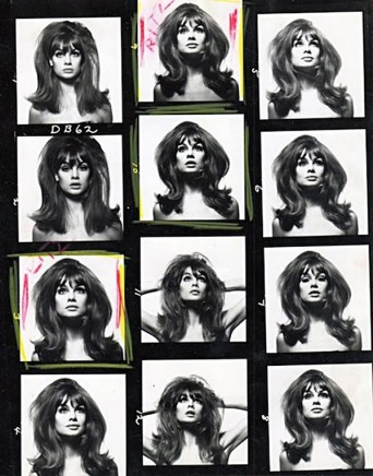 David Bailey, Jean Shrimpton, Contact Sheet