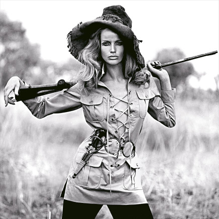 Franco Rubartelli, Veruschka, Safari dress by Yves Saint Laurent, French Vogue, July/August , 1968