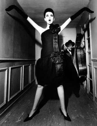 William Klein, Dorothy + Little Bara with a Cello, Paris, VOGUE, 1960