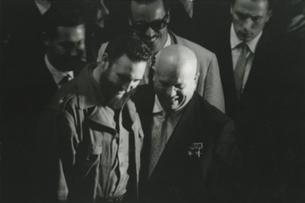 Sergio Larrain, Fidel Castro & Nikita Kruschew at the United Nations, 1960