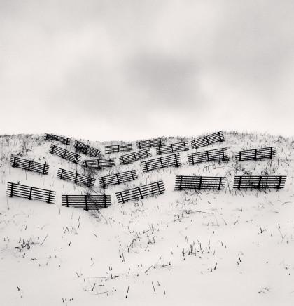 Michael Kenna, Twenty Fences, Obira, Hokkaido, Japan, 2004