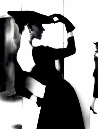 "Lillian Bassman, Barbara Mullen, ""Flat Hat, Bare Back"", c. 1950"