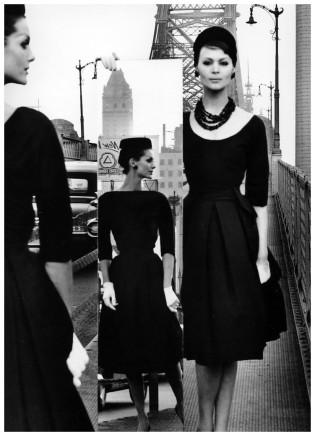William Klein, Anne St. Marie + Isabella + Mirror, Queensborough, 1962