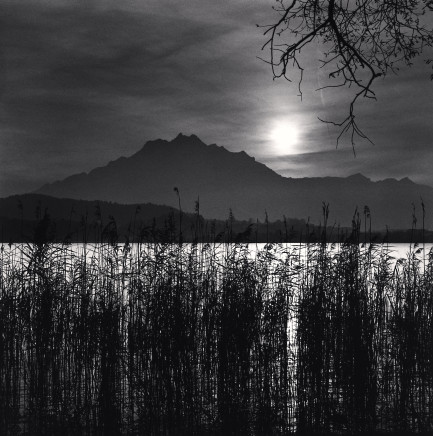 Michael Kenna, Mt. Pilatus, Lake Lucerne, 1998