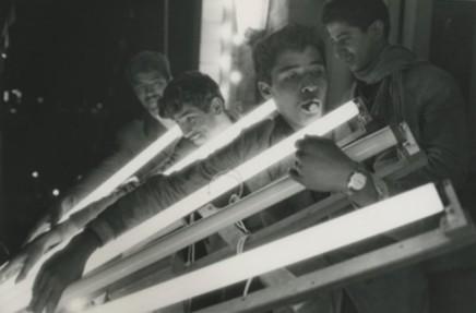 Sergio Larrain, Untitled (Boys carrying lights)