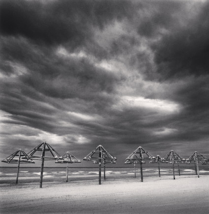 Michael Kenna, Twelve Beach Structures, Montesilvano, Abruzzo, Italy, 2016