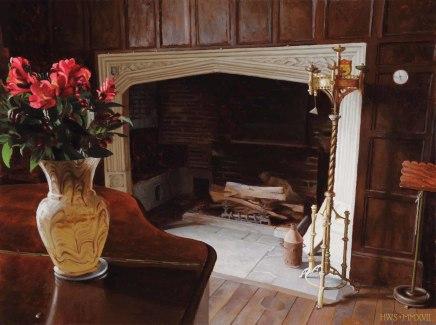 Rainthorpe - Hall Fireplace