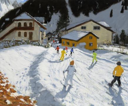 Skiing Back to Val Gardena, Italy