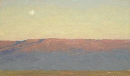 Moon and Mesa at Sunset