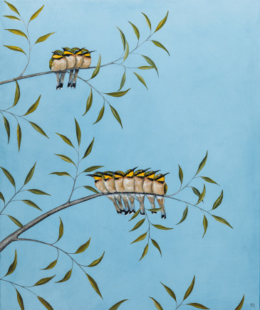 A Colony of Bee-Eaters