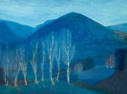 Jane MacNeill, Blue Mountain with Silver Birches (Carn Eilrig), 2019