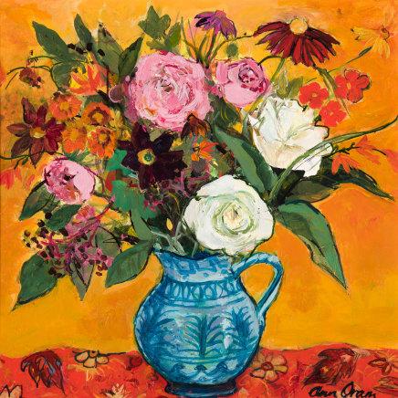 Ann Oram, Late Summer Flowers in a Spanish Jug