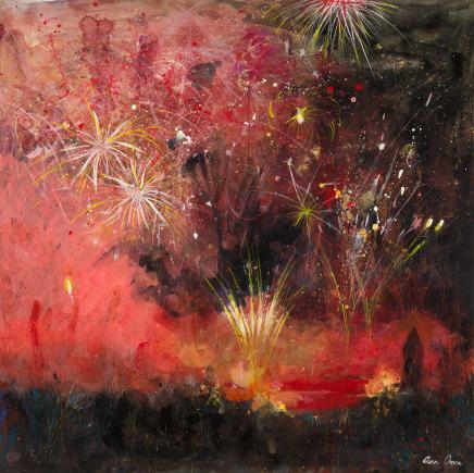 Ann Oram, Fireworks, Red Sky