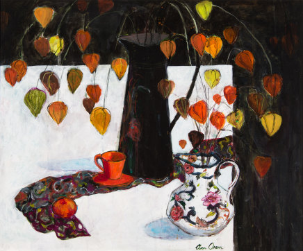Ann Oram, Two Jugs and Chiinese Lanterns