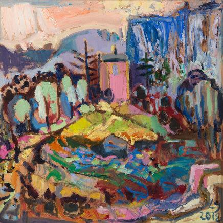Leonie Gibbs, Pink House, Lioux, Provence, 2018