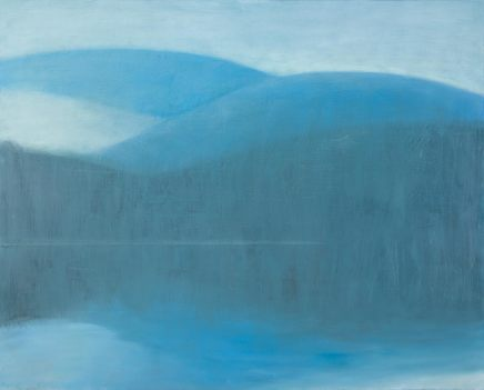 Jane MacNeill, Loch with Snow Mountains and Sand Bar (Loch Morlich), 2018