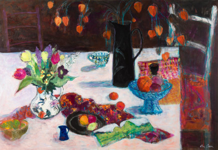 Ann Oram, Table with Chinese Lanterns