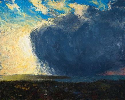Allan MacDonald, yellow blue red, 2019