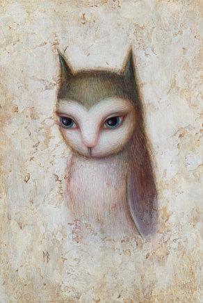 Paul Barnes, My Blue- Eyed Owl, 2019