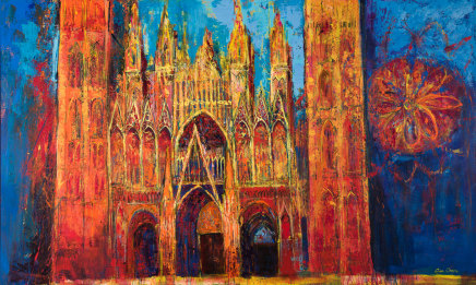 Ann Oram, Glowing Facade, Rouen Cathedral