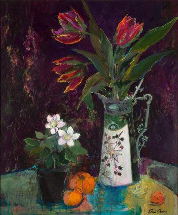 Ann Oram, Tulips in a Claret Jug