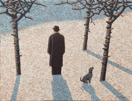 Mark Edwards, Dog Watching a Crow