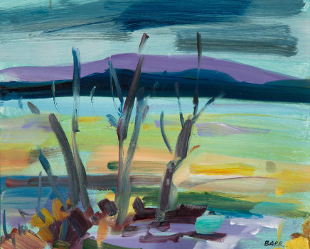 Shona Barr, Evening Light, Loch Lomond study, 2019
