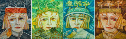 Joyce W Cairns, Four Seasons (set of four paintings)