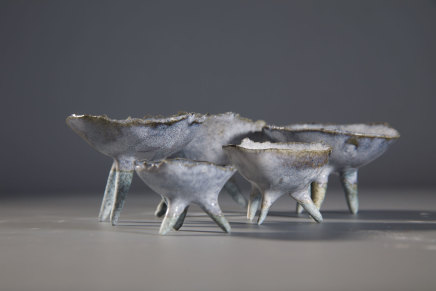 Allison Weightman, set of five porcelain pieces