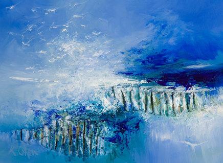 Kirstie Cohen, Seascape study viii, 2019
