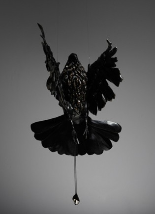 Daniel Woodford, Toward The Light (Bird, Light and Pendant), 2013