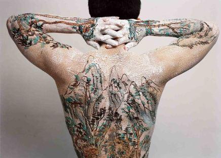 Huang Yan 黃岩, Chinese Shan-shui tattoo 13, 1999