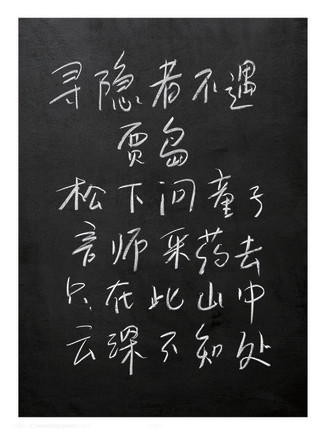 Cai Dongdong 蔡东东, For An Absent Recluse 寻隐者不遇, 2007