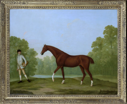 William Shaw, Sir Charles Bunburys racehorse 'Piggy' in a landscape, c.1765