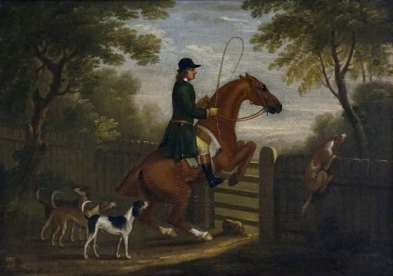 James Seymour, A standing leap at a gate, c.1745