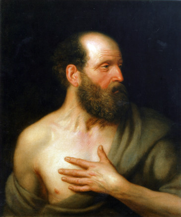 Attributed to Balthasar Denner, Portrait of a bearded man as St. Jerome