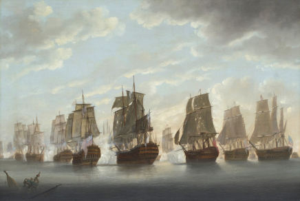 Captain William Elliott, The Battle of the Saintes 1782