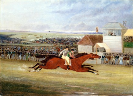 <span class=%22title%22>The finish of the Great St. Leger Stakes at Doncaster</span>