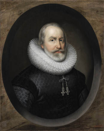 Cornelius Johnson, Portrait of a 1st Viscount Falkland, Governor general of Ireland