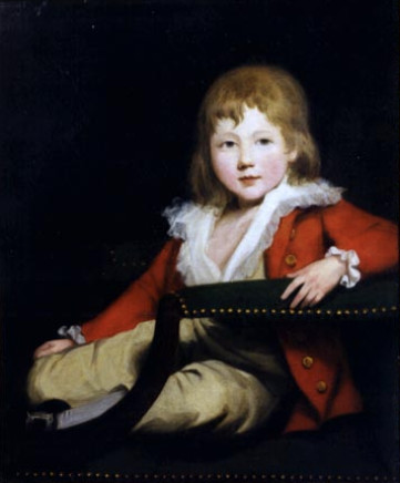 Sir Martin Archer Shee, Portrait of Master George O'Connor of Castleknock (1778-1842), dressed in red with buff breeches, sitting in a chair