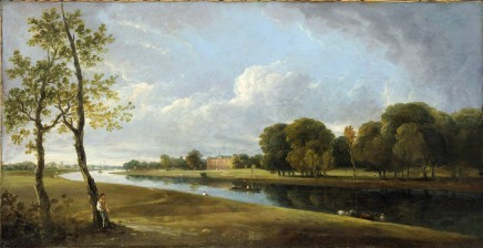 <span class=%22title%22>A panoramic view of the River Thames at Twickenham, with a view of Secretary Johnston's house</span>