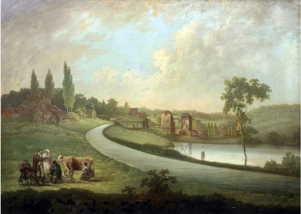 Samuel Colman, A view of Bullpitts, Bourton and the Hindley factory with the Longpond and Factory pond