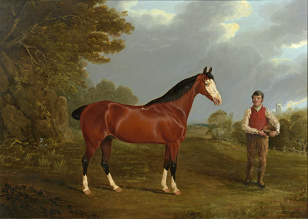 John Frederick Herring, Snr, Whiteface and his groom John Gilham, c.1822