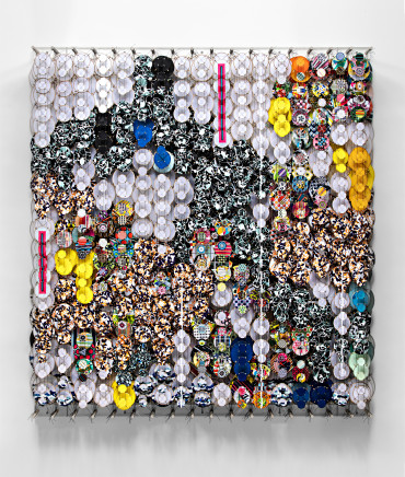 Jacob Hashimoto, Outside the Compass of Perpetual Patterns, 2021