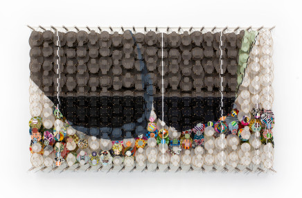 Jacob Hashimoto, In the Absence of any Sound, 2020
