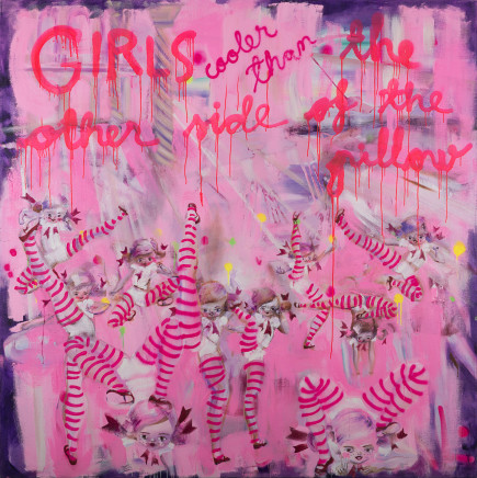 Katja Tukiainen, GIRLS cooler than the other side of the pillow, 2018
